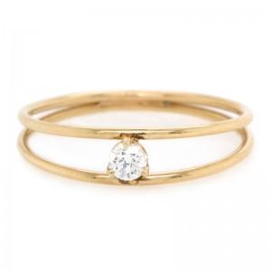 Zoe Chicco Prong Set Diamond Double Band Ring