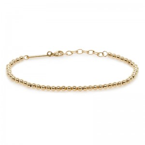 Zoe Chicco bracelet with 3mm gold beads