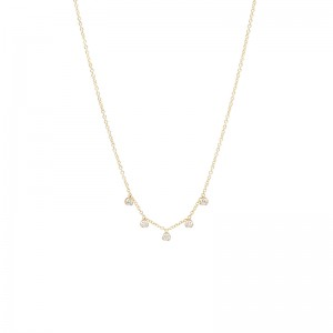 Zoe Chicco 5 dangling diamonds necklace