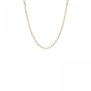Zoe Chicco small square oval link chain necklace