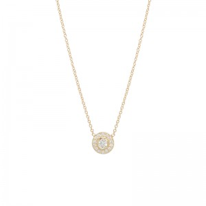 Zoe Chicco diamond bezel and diamond halo necklace