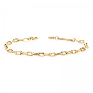 Zoe Chicco medium square oval link chain bracelet