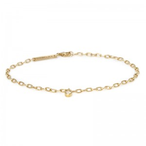 Zoe Chicco dangling bezel diamond small square oval link bracelet