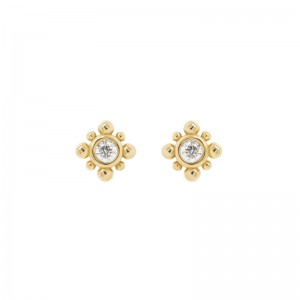 Zoe Chicco tiny bead starburst diamond stud earrings