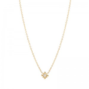 Zoe Chicco tiny bead starburst necklace