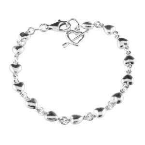 PDC SS puff heart bracelet