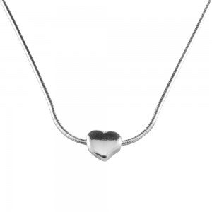 PDC SS heart necklace