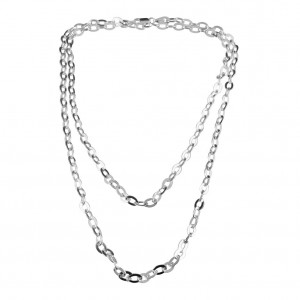 PDC SS 5.1mm flat oval cable necklace