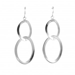 PDC SS Classic Double Oval Drop Earrings