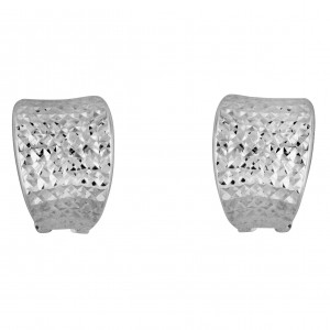 PDC SS Diamond Cut C Huggie Earrings