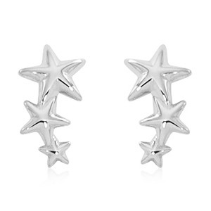 Pd Collection Ss Triple Star Climber Earrings