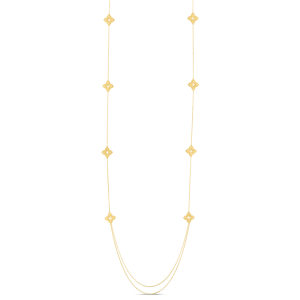 Roberto Coin YELLOW GOLD  PETITE VENETIAN PRINCESS LONG STATION CHAIN NECKLACE