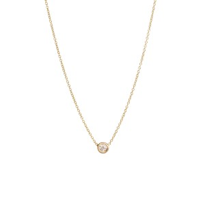 Zoe Chicco Single Floating Diamond Necklace