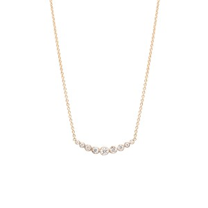 Zoe Chicco Graduated Bezel Set Diamond Necklac