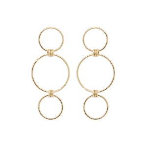 Zoe Chicco 3 Mixed Circle Drop Earrings With 3 Ring Connectors