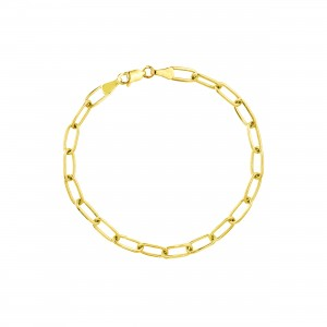 PDCollection 14k Gold Paper Clip Chain Bracelet