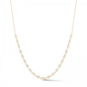 Dana Rebecca Lulu Jack Bezel Station Necklace