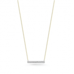 Gold Sylvie Rose Medium Bar Necklace