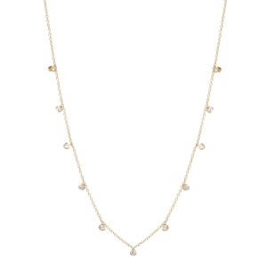 Zoe Chicco 11 Diamond Station Necklace