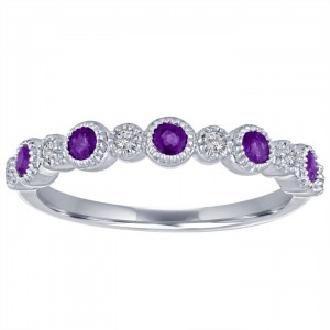 My Story Ana Amethyst Stackable Ring
