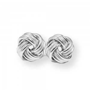PD Collection Textured Large Love Knot Earrings