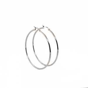 PDC SS 40Mm High Polished 2Mm Round Tube Hoops